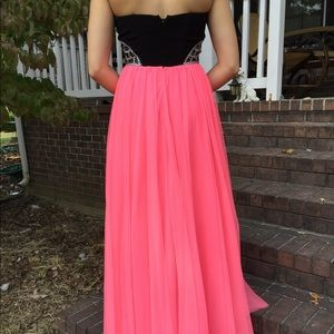 David\'s Bridal Dresses | Pink Black Prom Dress | Poshmark